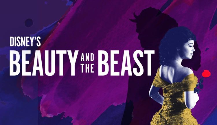 """""""Disney's Beauty and the Beast logo for Theatre Under the Stars"""